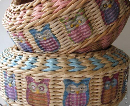 Мастер-класс Поделка изделие Плетение Разноцветные совята Бумага газетная Трубочки бумажные фото 3