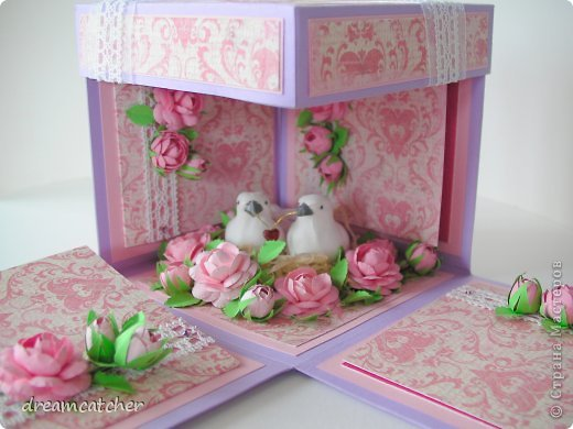 Добрый день! В этот раз мне выпал случай смастерит чудесный magix box в честь свадьбы знакомых по этому решила поделится своими успехами!   в процессе фото 12
