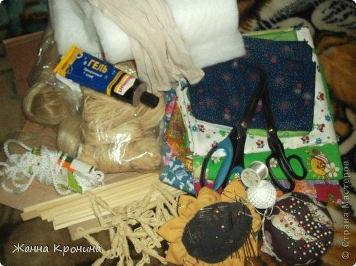 Куклы Мастер-класс Оберег Шитьё МК по созданию Ёжки Капрон Клей фото 4