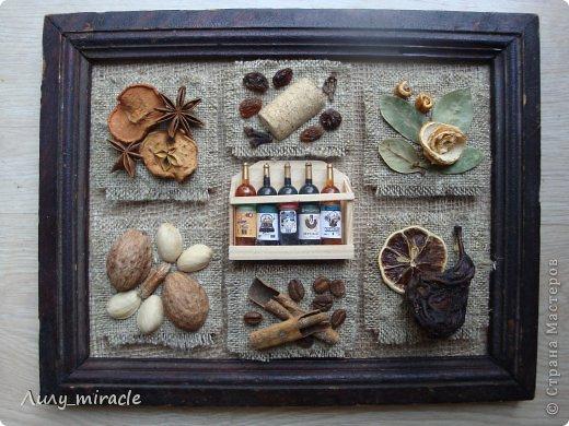 """В продолжение моей темы панно ( https://stranamasterov.ru/node/593200 ) создала для своей кухни вторую работу. В планах три картины. Осталось купить еще одну рамочку) Это назвала """"Десертное"""", т.к. здесь все элементы """"сладенькие"""")) фото 1"""