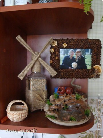 """В продолжение моей темы панно ( https://stranamasterov.ru/node/593200 ) создала для своей кухни вторую работу. В планах три картины. Осталось купить еще одну рамочку) Это назвала """"Десертное"""", т.к. здесь все элементы """"сладенькие"""")) фото 10"""