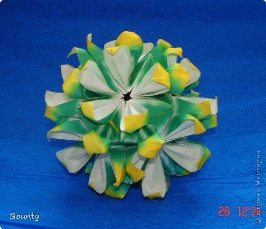 Здравствуйте! Сегодня я хочу представить вашему вниманию кусудаму Passiflora by Ekaterina Lukasheva. Name: Passiflora Paper size: 7,5*7,5 фото 1