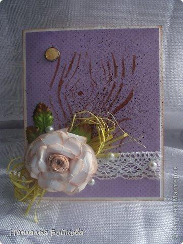 Мастер-класс Поделка изделие Скрапбукинг Ассамбляж Винтажная роза МК или мои эксперименты с бумагой Бумага фото 22
