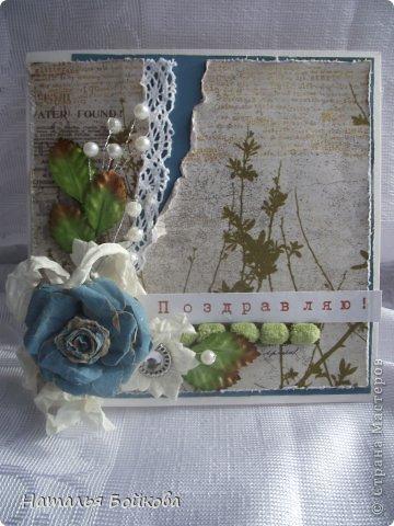 Мастер-класс Поделка изделие Скрапбукинг Ассамбляж Винтажная роза МК или мои эксперименты с бумагой Бумага фото 20