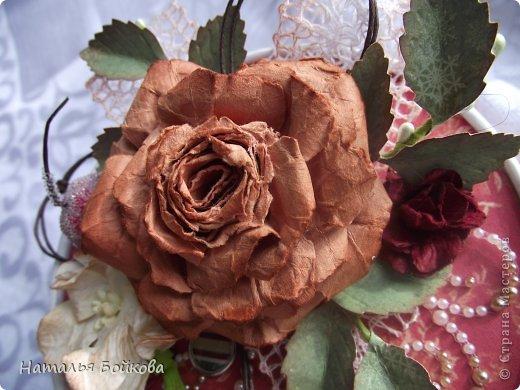 Мастер-класс Поделка изделие Скрапбукинг Ассамбляж Винтажная роза МК или мои эксперименты с бумагой Бумага фото 4