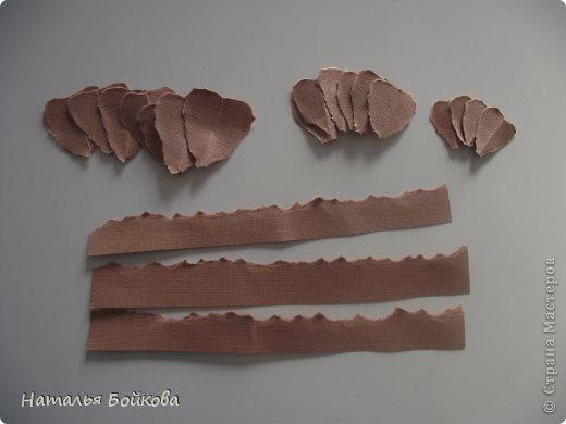 Мастер-класс Поделка изделие Скрапбукинг Ассамбляж Винтажная роза МК или мои эксперименты с бумагой Бумага фото 9