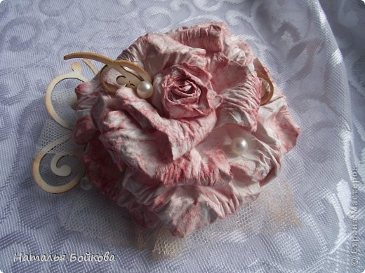 Мастер-класс Поделка изделие Скрапбукинг Ассамбляж Винтажная роза МК или мои эксперименты с бумагой Бумага фото 24