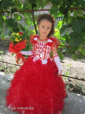 Платье для моей любимой доченьки на первый  выпускной,очень долго мучилась , 200 воланчиков из14 метров органзы фото 1