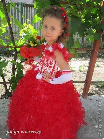 Платье для моей любимой доченьки на первый  выпускной,очень долго мучилась , 200 воланчиков из14 метров органзы фото 2