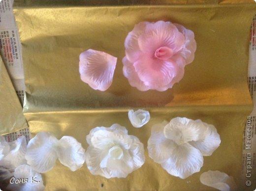 Свадебное дерево из лепестков роз и МК  фото 8