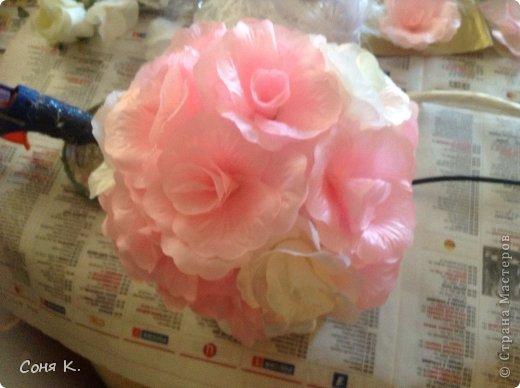 Свадебное дерево из лепестков роз и МК  фото 11