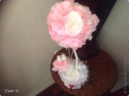 Свадебное дерево из лепестков роз и МК  фото 1