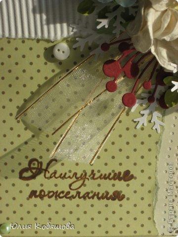 На днях родилась новая открыточка в нежной весенней гамме. фото 3