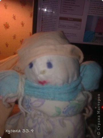 я сделала куклу из колготок.её зовут аля. фото 2