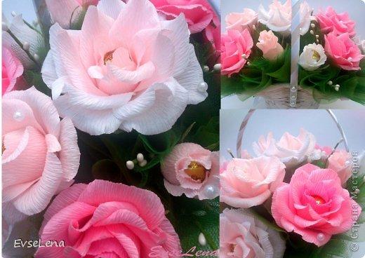 Почему так сладко пахнут розы, Принося сумятицу в сердца? Аромат цветов рождает грезы, Душу будоражит без конца. Сколько шарма, прелести, изыска, Сколько силы в царственном цветке! Лишь шипы – защита зоны риска – Оставляют след свой на руке. Розовый букет прекрасный свежий Восхищает и волнует кровь. Только аромат цветочный, нежный Лишь в саду готов дарить любовь... Автор Т.Лаврова  Предлагаю вашему вниманию еще одну работу в стиле свит-дизайн! Она очень нежная и воздушная!  Приятного просмотра!  фото 5