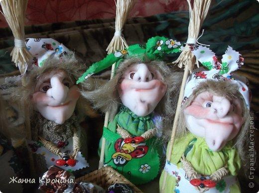 Куклы Мастер-класс Оберег Шитьё МК по созданию Ёжки Капрон Клей фото 2