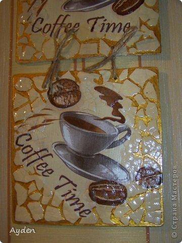 Очень мне понравилось делать подобные панно https://stranamasterov.ru/node/521433 И вот для очередного подарка для любителя кофе родилась эта работа...  фото 3