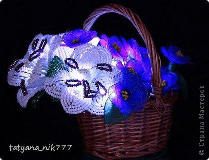 Цветы светильники из капрона. фото 6