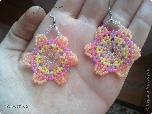 Серьги ( цветы ) фото 2