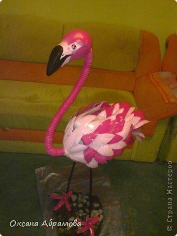 """Хочу познакомить вас с процессом изготовления этого прекрасного """"Фламинго"""". Так как это была моя первая работа, фотографий практически не осталось, попробую подробно объяснить с помощь описания и схем. фото 10"""