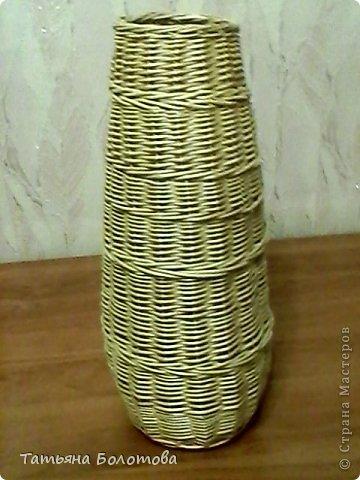 Напольная ваза из лозы