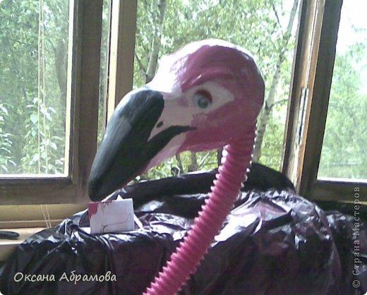 """Хочу познакомить вас с процессом изготовления этого прекрасного """"Фламинго"""". Так как это была моя первая работа, фотографий практически не осталось, попробую подробно объяснить с помощь описания и схем. фото 7"""