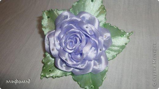 """Заколка""""Роза""""  фото 4"""