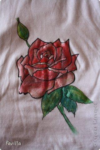 Майка с розой для мамы фото 1