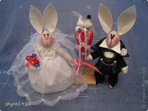 Свадебная пара, которую я пошила к свадьбе сына. фото 1