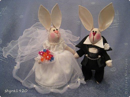 Свадебная пара, которую я пошила к свадьбе сына. фото 10