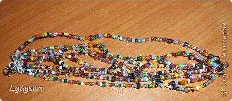 Браслеты, ожерелья и брелки из бисера фото 12