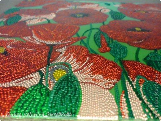 Рисунок выполнен в технике точечной росписи (point-to-point) на стекле. Подложка из плотного оргалита с креплениями для подвешивания Размер рисунка 21*29 см Выполнено акриловыми красками (производство Англия) (фото красок смотреть ниже) фото 4