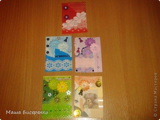 """Вот они,мои красавицы!Долг:Самурайчик.Обмениваюсь только с """"должничком"""",обменяюсь,если оооочень карточка ваша понравится.Почему разноцветки-рванки?Потому,что на карточке один цвет,но разный по гамме.А рванки,то что я эксперементировала с бумагой-подглядела у Натальи Бойковой фото 1"""