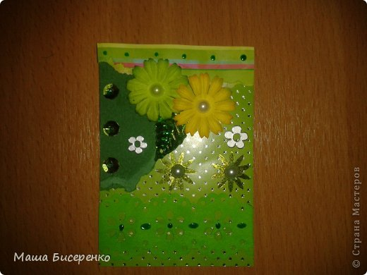 """Вот они,мои красавицы!Долг:Самурайчик.Обмениваюсь только с """"должничком"""",обменяюсь,если оооочень карточка ваша понравится.Почему разноцветки-рванки?Потому,что на карточке один цвет,но разный по гамме.А рванки,то что я эксперементировала с бумагой-подглядела у Натальи Бойковой фото 2"""