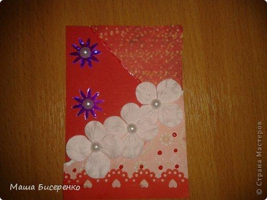 """Вот они,мои красавицы!Долг:Самурайчик.Обмениваюсь только с """"должничком"""",обменяюсь,если оооочень карточка ваша понравится.Почему разноцветки-рванки?Потому,что на карточке один цвет,но разный по гамме.А рванки,то что я эксперементировала с бумагой-подглядела у Натальи Бойковой фото 4"""