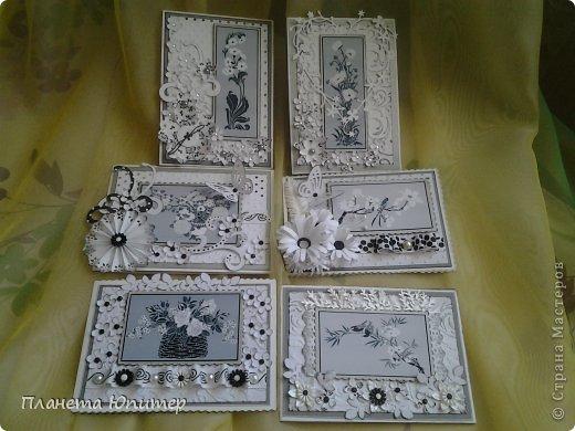 """Добрый день всем! Неожиданно возникла идея создать такие открытки... Все потому, что... Разглядывая имеющиеся у себя в """"кладовых"""" картинки для творчества, наткнулась на эти... Вообще, это картинки для изготовления трафаретов, но они мне так понравились, и их там было такое великое множество, что я сразу  поняла, что буду делать с ними открытки...  http://fljuida.com/post248155910 - ссылка на картинки. фото 18"""