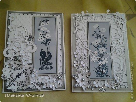 """Добрый день всем! Неожиданно возникла идея создать такие открытки... Все потому, что... Разглядывая имеющиеся у себя в """"кладовых"""" картинки для творчества, наткнулась на эти... Вообще, это картинки для изготовления трафаретов, но они мне так понравились, и их там было такое великое множество, что я сразу  поняла, что буду делать с ними открытки...  http://fljuida.com/post248155910 - ссылка на картинки. фото 3"""