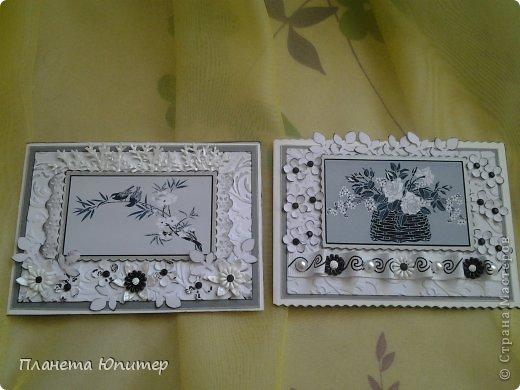"""Добрый день всем! Неожиданно возникла идея создать такие открытки... Все потому, что... Разглядывая имеющиеся у себя в """"кладовых"""" картинки для творчества, наткнулась на эти... Вообще, это картинки для изготовления трафаретов, но они мне так понравились, и их там было такое великое множество, что я сразу  поняла, что буду делать с ними открытки...  http://fljuida.com/post248155910 - ссылка на картинки. фото 9"""