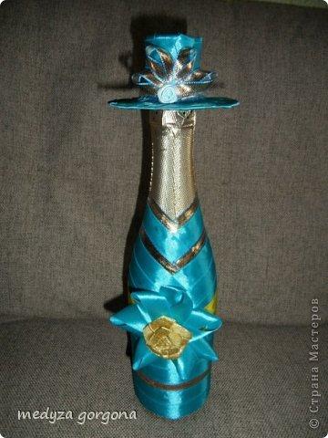 украшенные бутылки фото 9