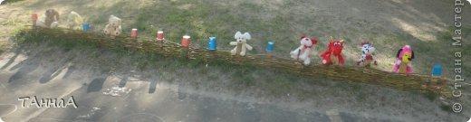 Вход обозначили плетенным заборчиком фото 1