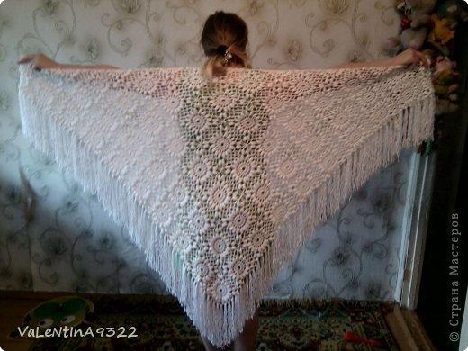 вот такая моя первая шаль смастерилась