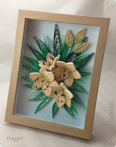 Лилии по МК Пылинки фото 2