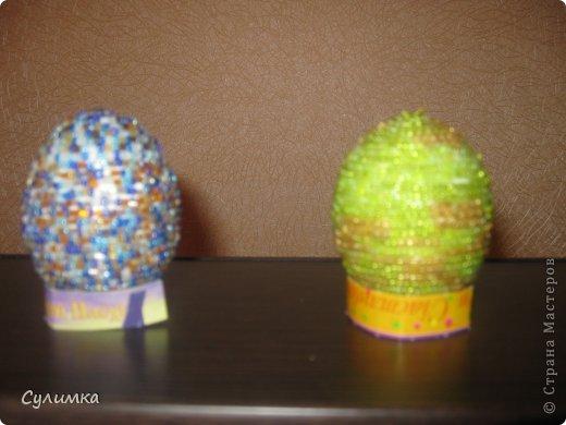 Пасхальные яички из бисера фото 2