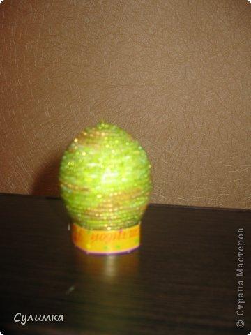 Пасхальные яички из бисера фото 3