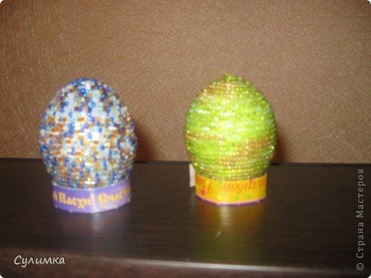 Пасхальные яички из бисера фото 6