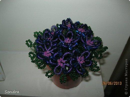 цветочки из бисера и паеток фото 1