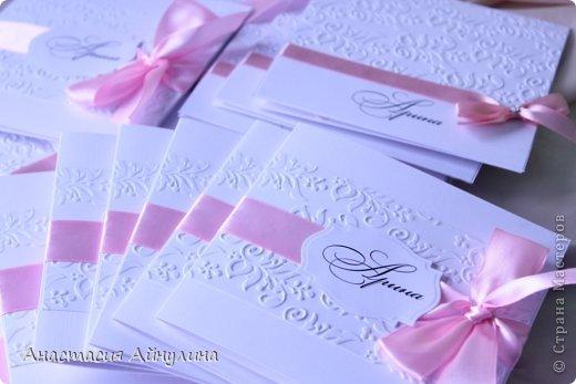 Приглашения на крестины девочки.  Вдохновлялась работами прекрасной мастерицы,чьи работы очень люблю, Kristiina Disain.  http://kristiinadisain.com/ - ее сайт фото 2