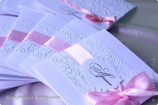 Приглашения на крестины девочки.  Вдохновлялась работами прекрасной мастерицы,чьи работы очень люблю, Kristiina Disain.  http://kristiinadisain.com/ - ее сайт фото 1