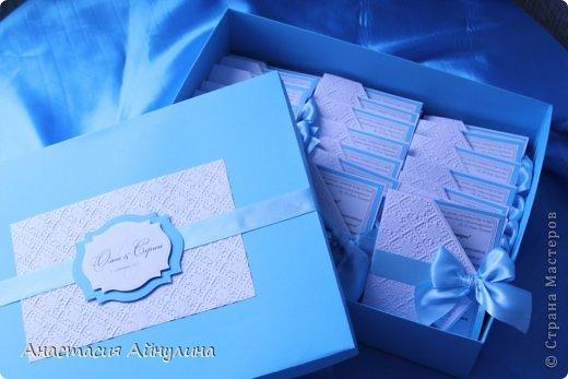 Свадебные приглашения, и снова в коробке. Идея коробочки взята у еще одной мной очень любимой мастерицы, Анастасии Костиной - http://vk.com/scrap_present фото 1