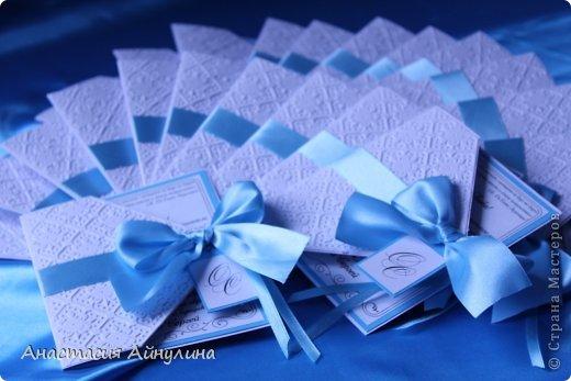 Свадебные приглашения, и снова в коробке. Идея коробочки взята у еще одной мной очень любимой мастерицы, Анастасии Костиной - http://vk.com/scrap_present фото 3